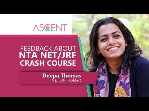 Feedback about NET/JRF Coaching by Deepa Thomas (NET Holder)