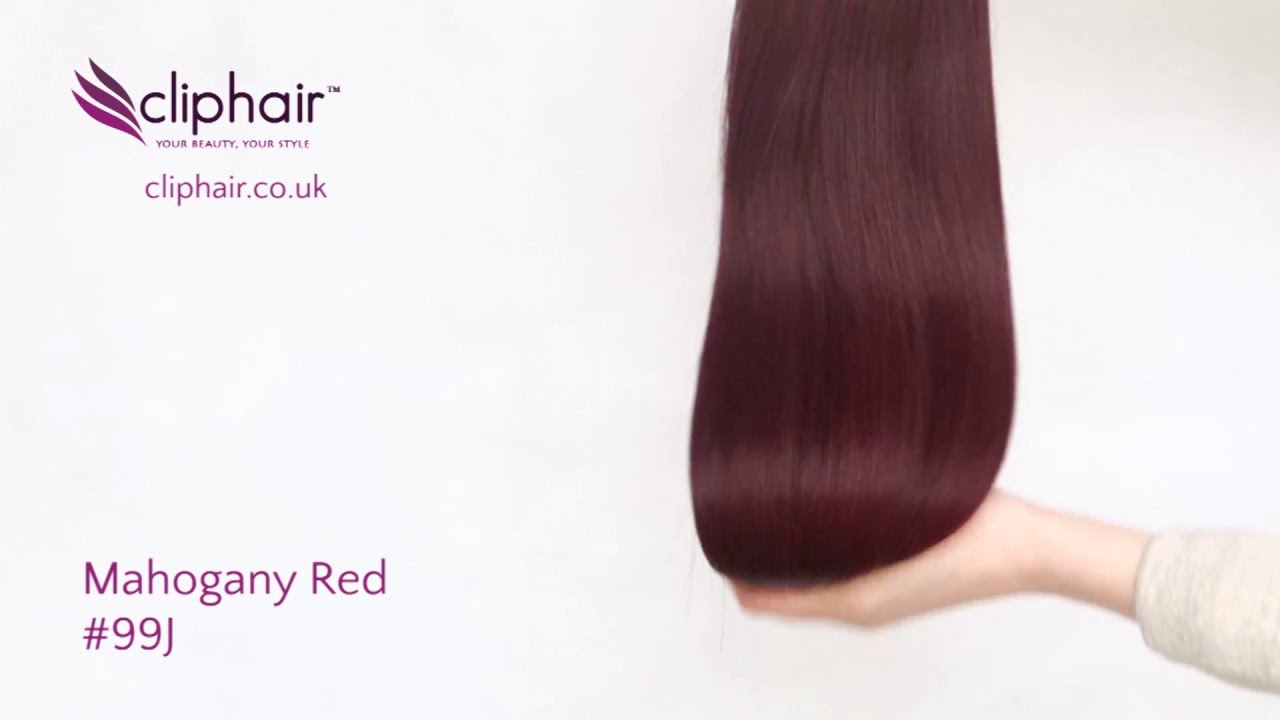 Mahogany Red Hair Extensions 99j By Cliphair Youtube