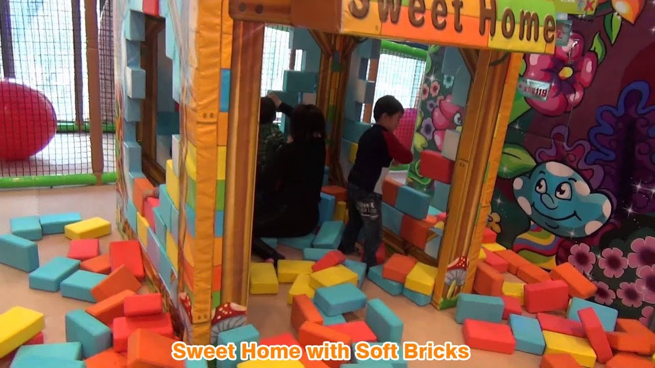 indoor playground equipment Sweet Home With Soft Bricks Cheer ...