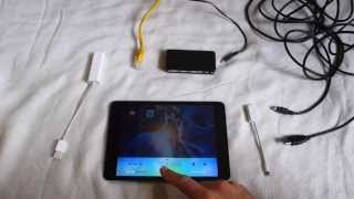 Internet on ipad using ethernet cable - in flightmode and wifi off