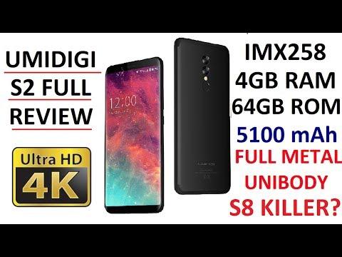 FULL Review 4K (S8 KILLER?) : UMIDIGI S2 4G 4GB/64GB 5100 mAh AWS IMX258 Helio P20 TYPE-C $179.99
