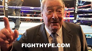 """""""THERE'S NOTHING LIKE ESPN"""" - BOB ARUM JABS HBO; PUMPED UP ABOUT ESPN'S CROSS-PROMOTION OF BOXING"""