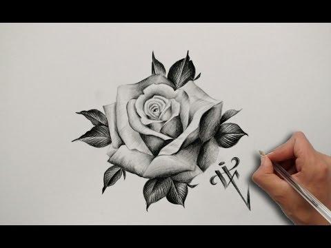 Diseño Tatuaje Rosa Realista Realistic Rose Tattoo Design Nosfe