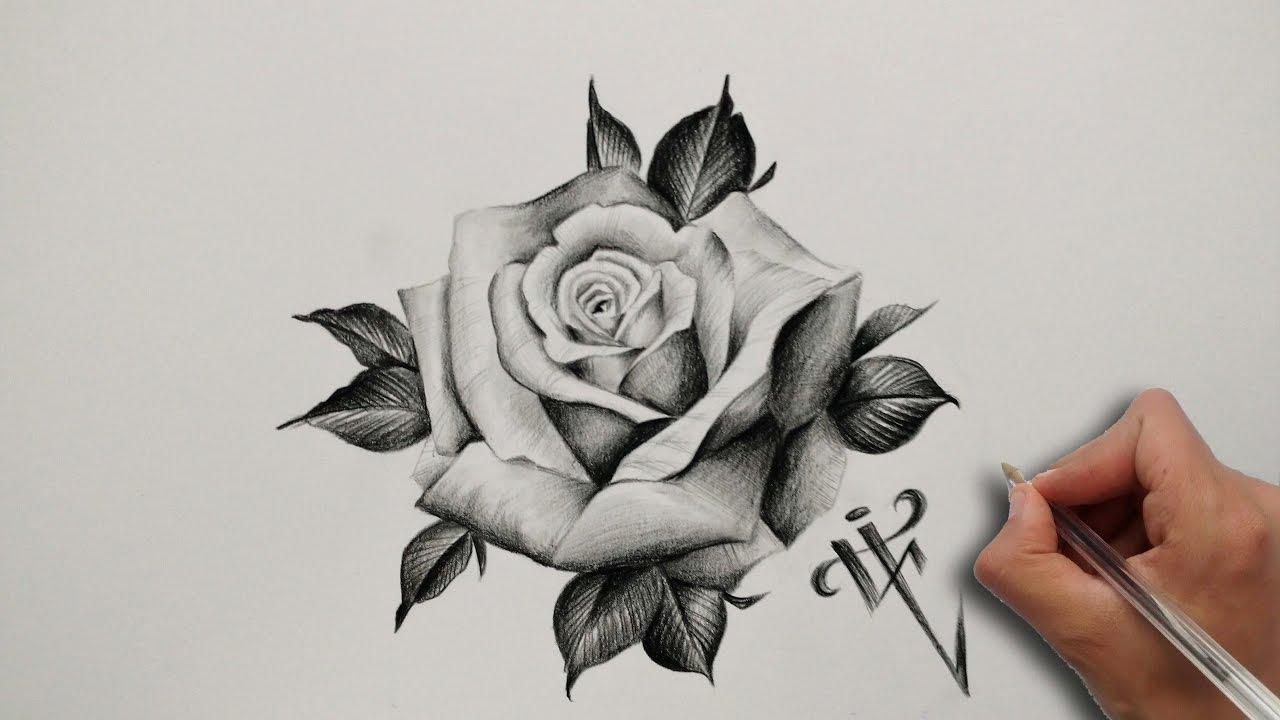 Diseño Tatuaje Rosa Realista / Realistic Rose Tattoo ...