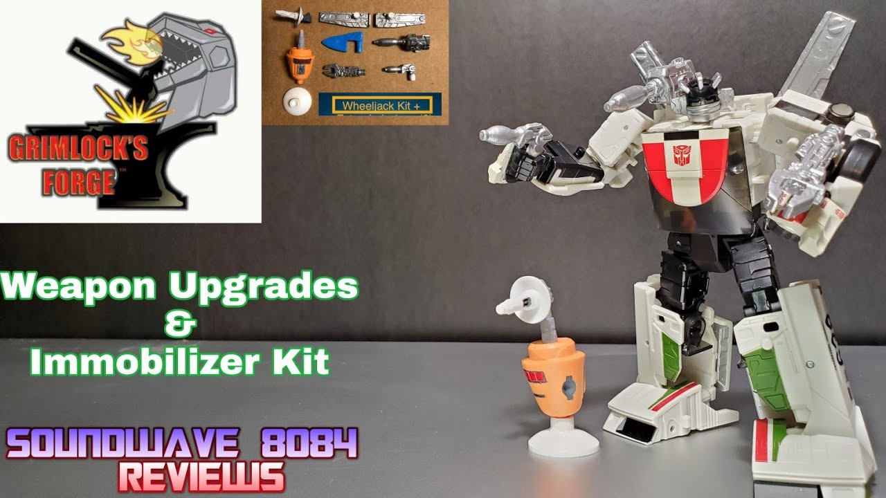 Grimlock's Forge Upgrade Kit for Earthrise Wheeljack Review By Soundwave 8084