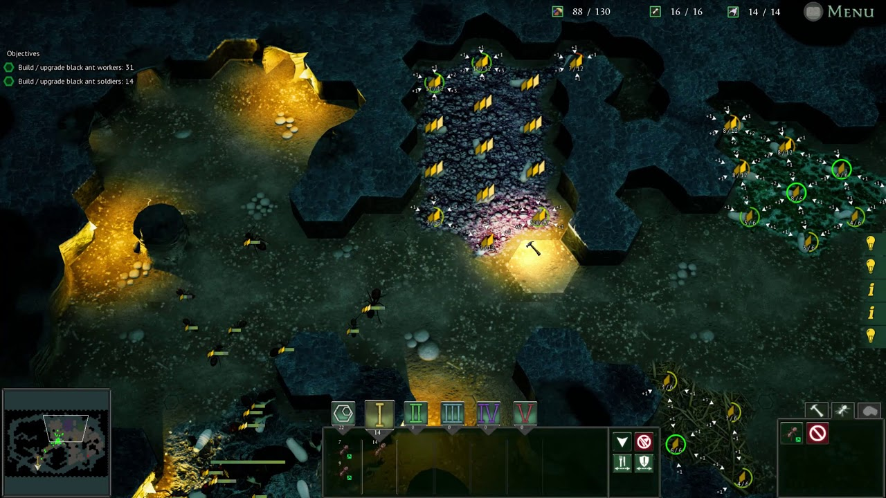Lets Try Empires Of The Undergrowth EP2 - Ant Colony Simulator / Strategy  Game