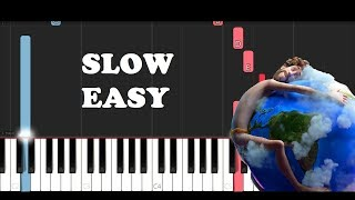 Lil Dicky - Earth (SLOW EASY PIANO TUTORIAL)