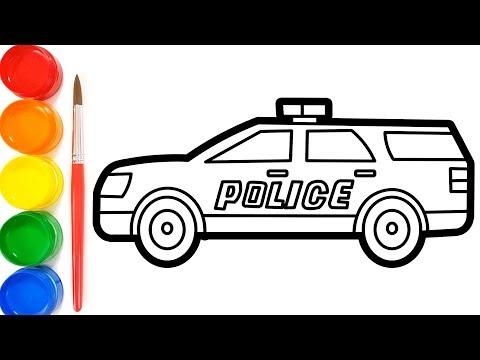 34 Gambar Mewarnai Mobil Police Terkini Lingkar Png