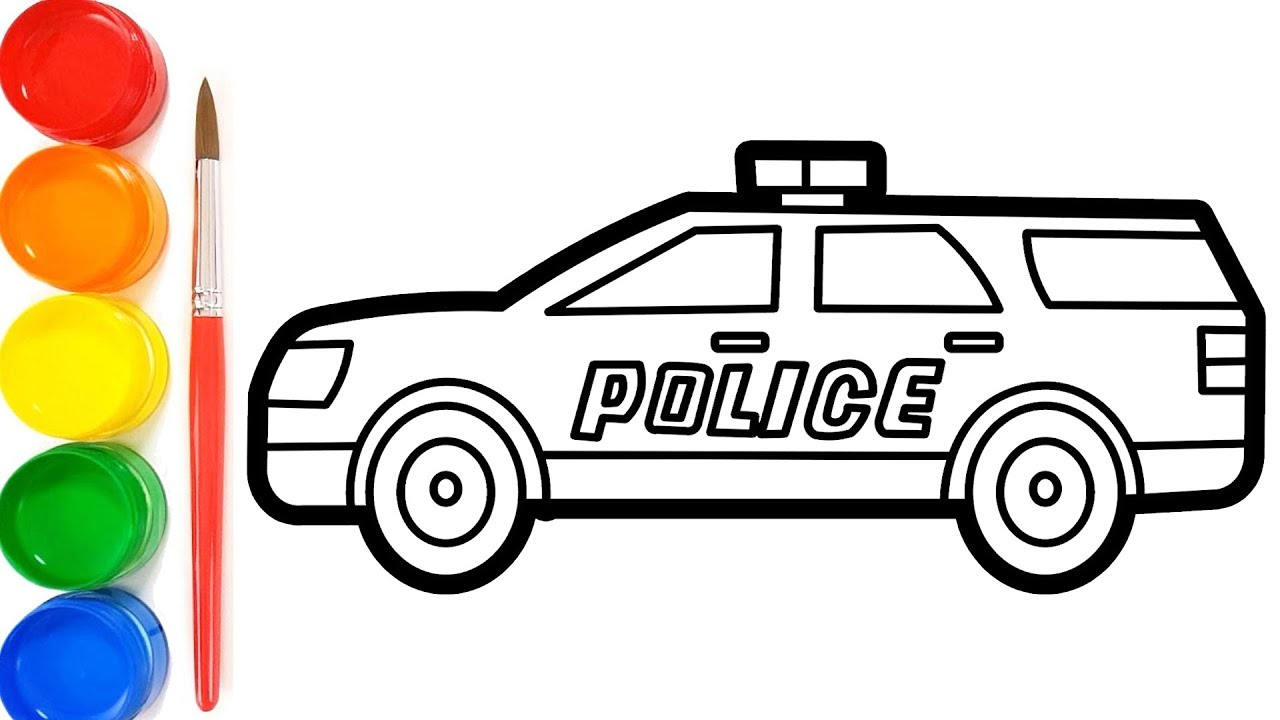 How To Draw A Police Car For Kids
