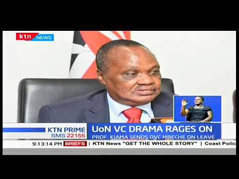 University of Nairobi VC drama rages on: Prof. Kiama sends DVS Mbeche on leave