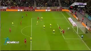 İsveç 2-3 TürkiyeGoller Emre Akbaba - Hakan Çalhanoğlu