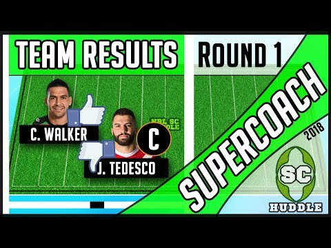 COOL CODY & CAPTAIN CARNAGE! | Round 1 Results | NRL SUPERCOACH 2018