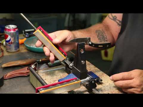 Using The Wicked Edge To Sharpen A Couple Hunting Knives