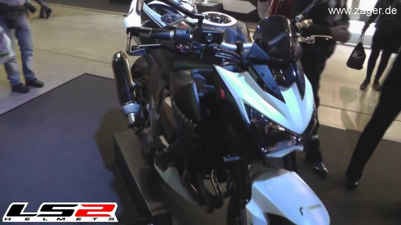 Kawasaki Z800 Rizoma Edition On EICMA 2012 With LS2 Helmets