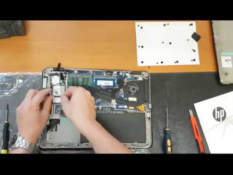 HP EliteBook 840 G3 disassembly & assembly to change RAM, HDD, Wifi or 3G /  4G module