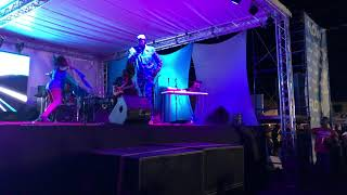 Porkyman performing Go with the Flow at Flow Soca Rave 2018