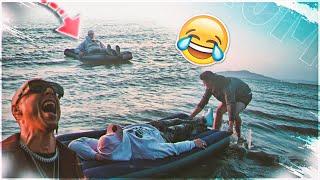 lo tiramos al mar mientras duerme    broma pesada a mi amigo