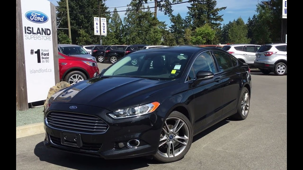 2014 ford fusion titanium sony audio moonroof review island ford youtube. Black Bedroom Furniture Sets. Home Design Ideas