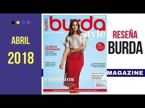 Reseña De La Revista Burda Style Abril 2018