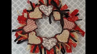 Tricia's Creations: Wood Hearts Wreath