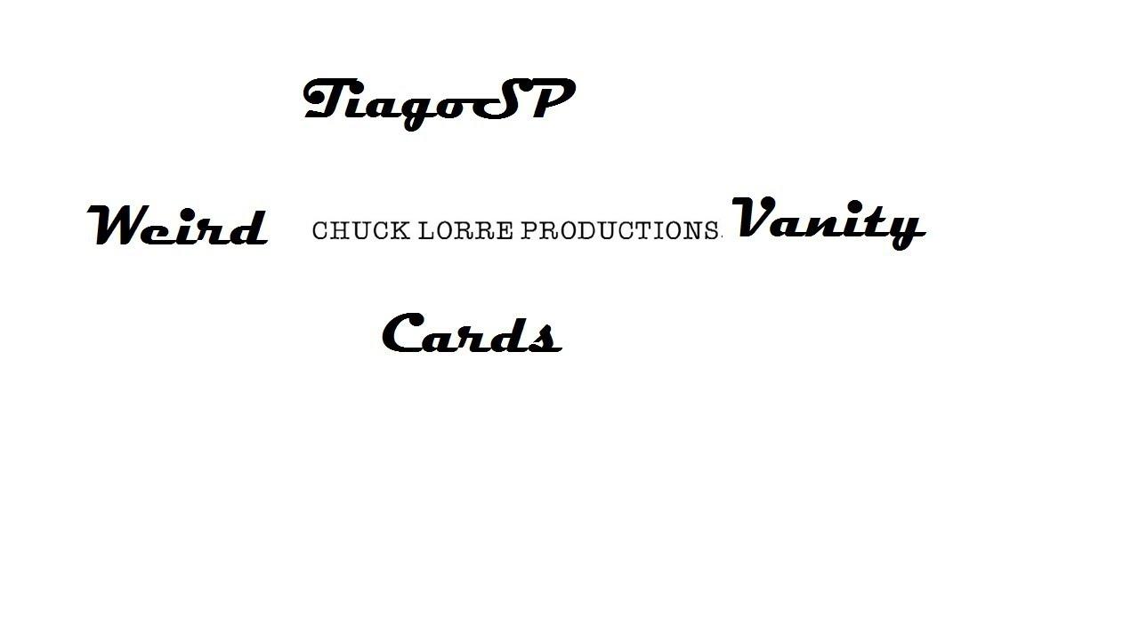 Weirdest Chuck Lorre Vanity Cards