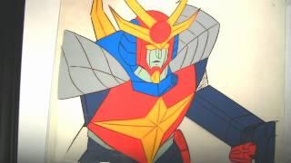 Daitarn 3 Production Animation Cels