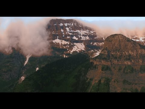 (4k UHD) Glacier National Park (before the forest fires 2015) - Rocky Mountain Drone at Logan Pass