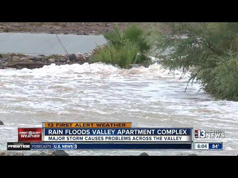 Rain causing flooding, leaking roofs in Las Vegas valley