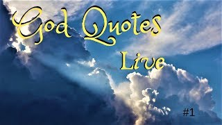 God Quotes Live #1 | 🙏 God Quotes