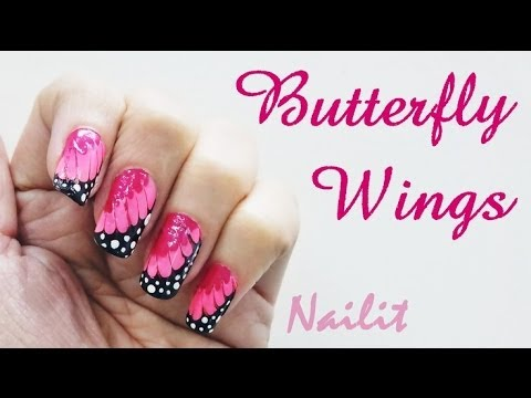 Easiest Nail Art Tutorial for Butterfly Wings Nails Step ...