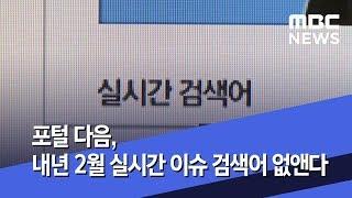포털 다음, 내년 2월 실시간 이슈 검색어 없앤다 (2…