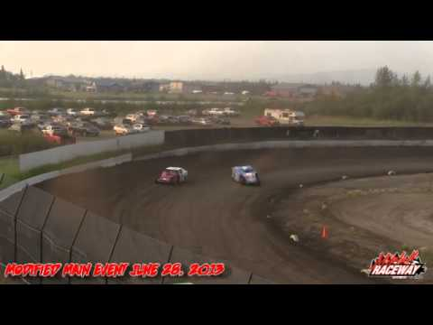 Mitchell Raceway ~ Modified Main Event ~ June 28, 2013