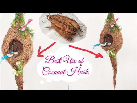 Best Way to Recycle Coconut Husk/ Coconut Husk Craft Idea