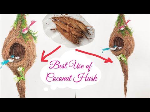 Best Way to Recycle Coconut Husk/ Coconut Husk Craft Idea