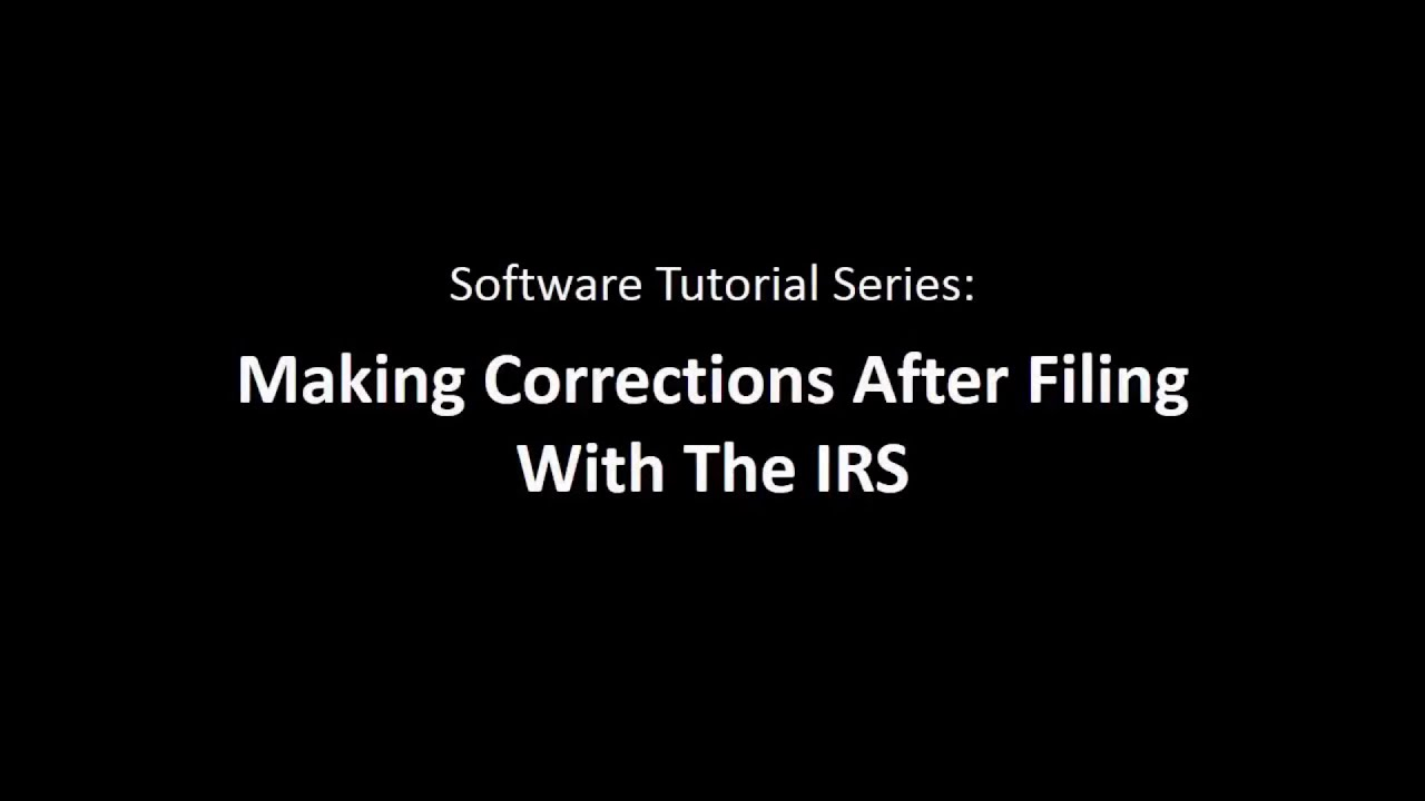 Creating corrections with the 1099 pro tax software youtube creating corrections with the 1099 pro tax software falaconquin