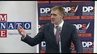Igor Lukšić o NATO integracijama na sastanku sa mladima u Podgorici