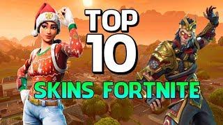 FORTNITE - TOP 10 SKINS MAIS BONITAS!