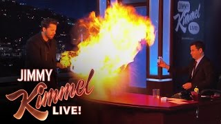 David Blaine Magic Tricks on Jimmy Kimmel Live PART 2