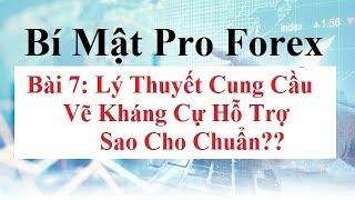 Bí mật Pro Forex  Bài 7 - Lý Thuyết Cung Cầu - Supply Demand - Cách Vẽ Kháng cự Hỗ Trợ Forex
