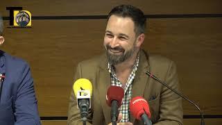 Rueda de Prensa Santiago Abascal (VOX), en Murcia