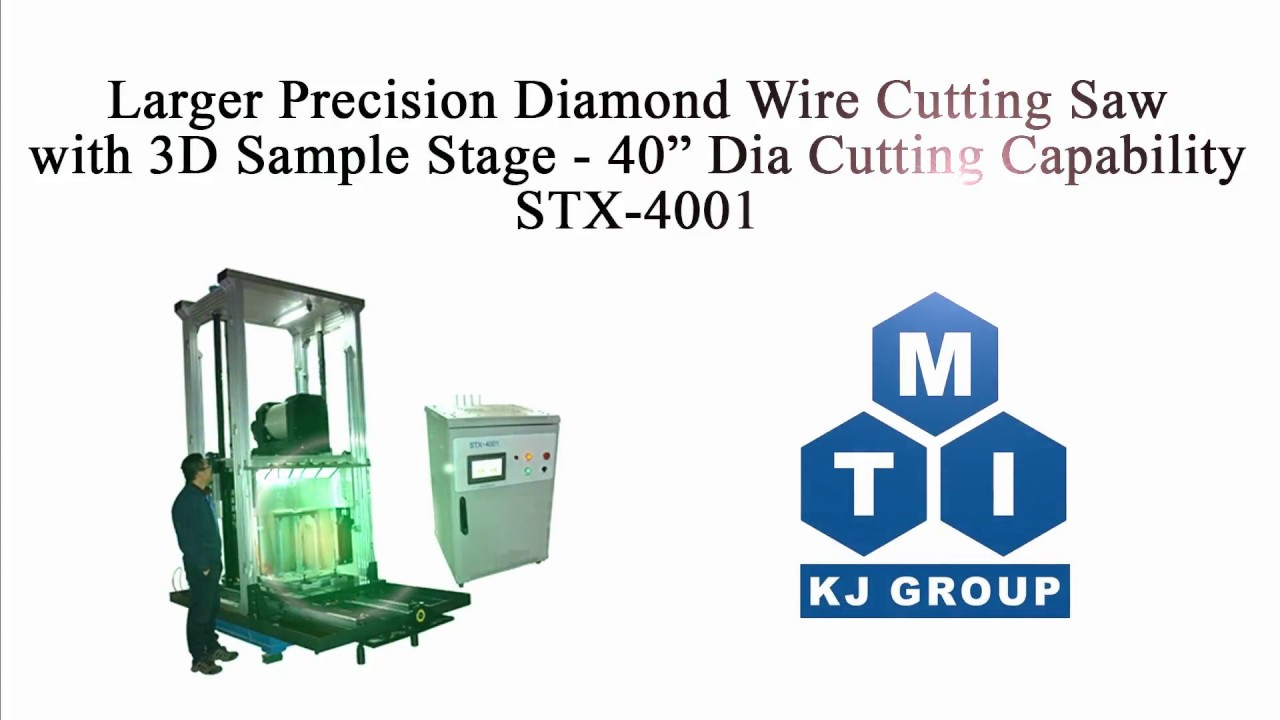 Larger Precision Diamond Wire Cutting Saw with 40\