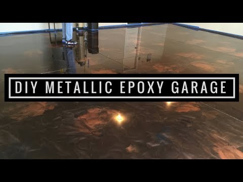 How to Install Amazing Metallic Epoxy Floor!  Coffee, Brass and Black