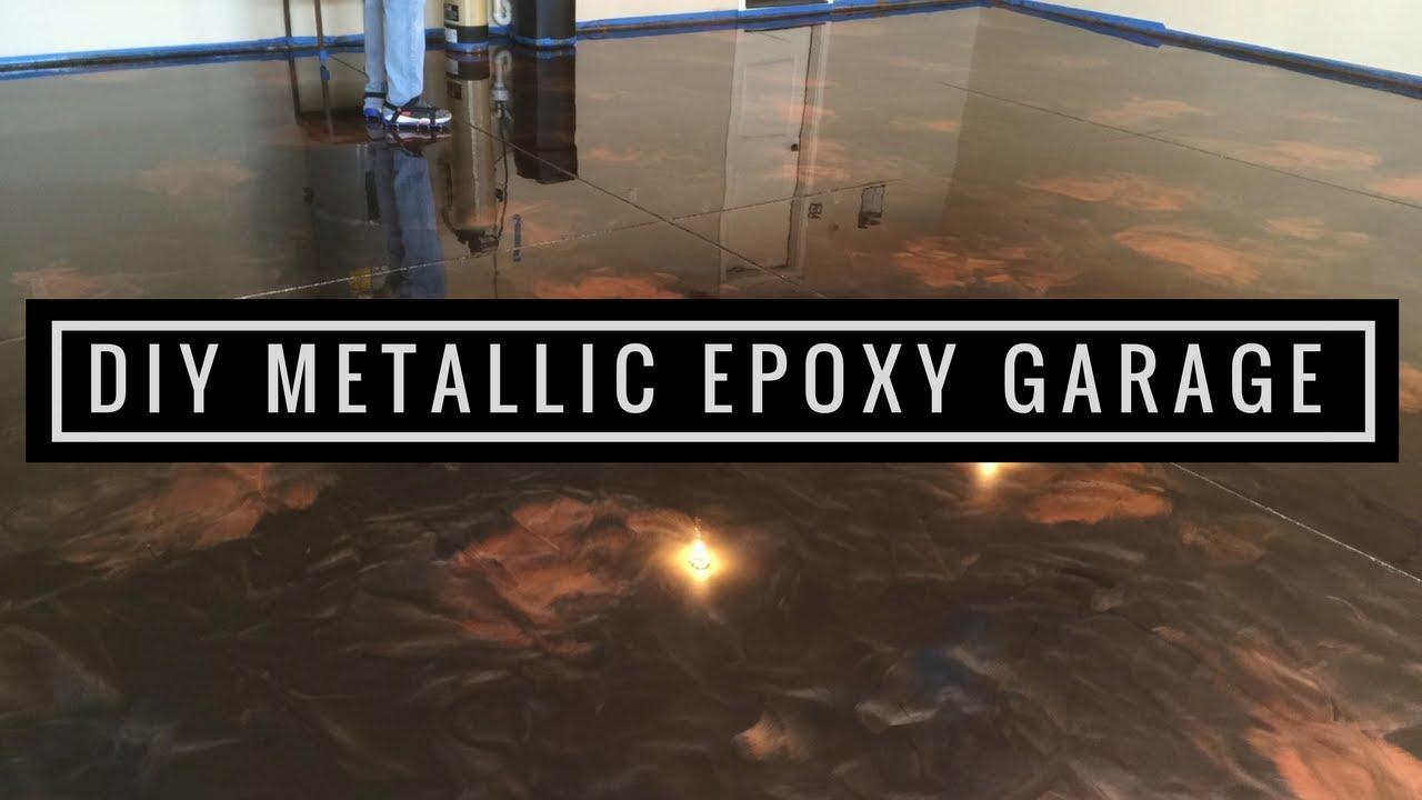 How To Install Amazing Metallic Epoxy Floor Coffee Brass And Black