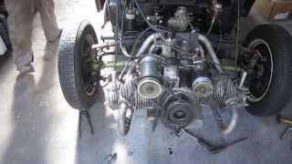 Dyna Panhard -:-  Le Moteur 4cv sur le châssis -:-
