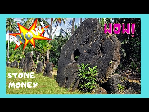 The famous STONE MONEY of YAP (Micronesia) at the ancient village of Okau