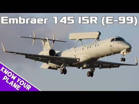 Know Your Plane #5 | Embraer 145 ISR (E-99): The Brazilian AWACS Plane