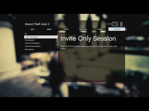 GTA Online - How To Make An Invite Only or Solo Lobby