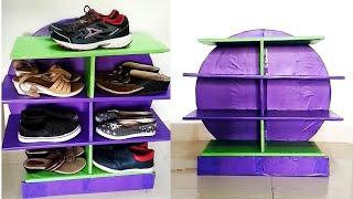 DIY Cardboard Rack#Shoe rack from cardboard#Best Space Saving Shoe rack idea from cardboard