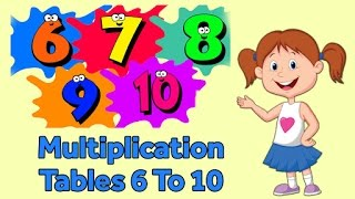 Multiplication Tables 6 To 10 | Multiplication Songs For Kids | Fun And Learn