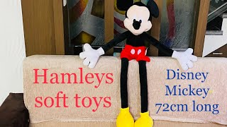 Disney Mickey Huggable Review-Hamleys soft toys 72cm long mickey best Disney soft toy to buy